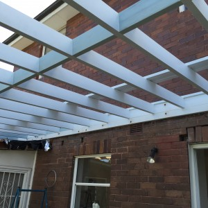 Timber pergola, veranda or carport