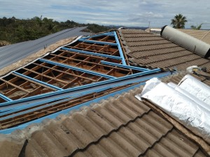 Batten Set out for tile to iron roofing conversion
